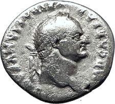 VESPASIAN 69AD  Authentic Genuine Ancient Silver Roman Coin Jupiter i70376