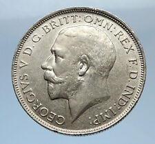 1916 United Kingdom Great Britain GEORGE V Silver Florin 2 Shillings Coin i69403