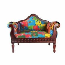 colonial wingback sofas chocolate leather sofa set antique chaises ebay unknown