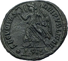 VALENTINIAN I Genuine 364AD Authentic Ancient Roman Coin w VICTORY ANGEL i68066