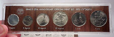 1975 ISRAEL 27th Anniversary Official Mint Set 6 Coins Collection in Case i57016