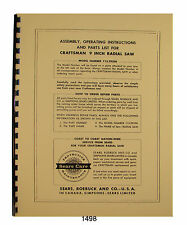 Craftsman Radial Arm Saw Parts Manual