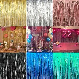 gold foil party curtain decoration