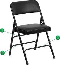 vinyl folding lawn chairs wildon home arm chair foldable patio swings benches ebay 4 pack metal black triple braced quad hinged heavy duty