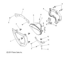 Motorcycle Headlight Assemblies for Victory Cross Country