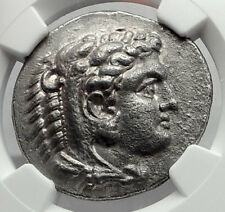 ALEXANDER III the GREAT 328BC Tetradrachm Silver Ancient Greek Coin NGC i64230