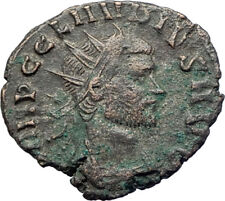 CLAUDIUS II Gothicus w branch & scepter  269AD  Rome Ancient Roman Coin i73653
