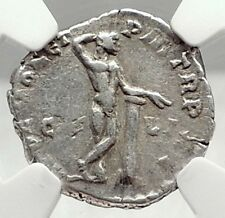 COMMODUS 190AD Rome Authentic Ancient Silver Roman Coin NUDE APOLLO - NGC i73133