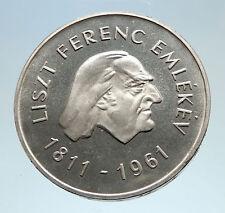 1961 HUNGARY Composer Franz Liszt Genuine Antique Silver 50 Forint Coin i75148