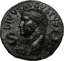 Divus AUGUSTUS 37AD  Dupondius Authentic Ancient Roman Coin of CALIGULA i67816