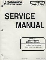 Mercury Service Manual 25 BigFoot FourStroke 4 Stroke