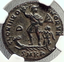 VALENTINIAN II on GALLEY Authentic Ancient 378AD Roman Coin NGC CERTIFIED i69177