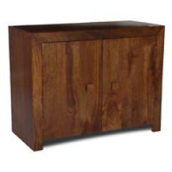 Dark Wood Living Room Furniture Bench Seats For Tone Solid Sideboards Ebay Dakota Mango 2 Door Sideboard 43n