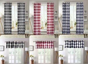 blue plaid curtains drapes valances