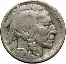 1936 BUFFALO NICKEL 5 Cents of United States of America USA Antique Coin i43865