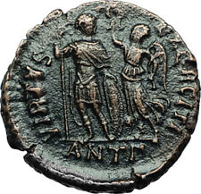 HONORIUS crowned by Victory 395AD Antioch Authentic Ancient Roman Coin i66464