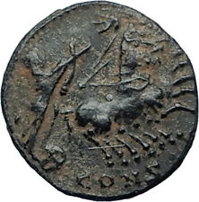 Saint CONSTANTINE I the Great CHARIOT to GOD HAND in HEAVEN Roman Coin i68174