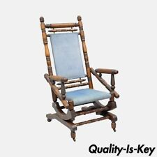 antique rocking chairs for sale dining room table and with bench victorian ebay dark wood tone