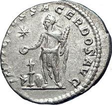 ELAGABALUS sacrificing  221AD Ancient Silver Roman Coin Altar BULL  i73549