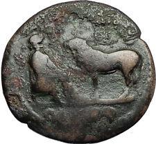 COMMODUS 177AD Parion Mysia ASCLEPIUS Veterinary Medicine God Roman Coin i67090