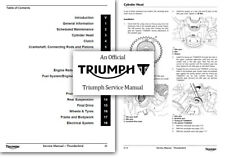 Triumph Thunderbird Motorcycle Service & Repair Manuals