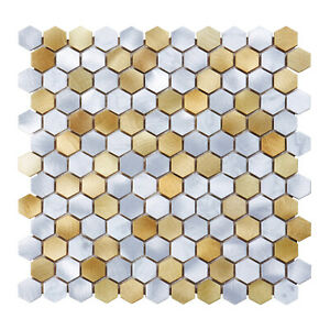 white hexagonal marble floor wall