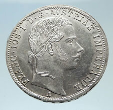 1861 AUSTRIA w KING FRANZ JOSEPH I Eagle Genuine Proof Silver Florin Coin i75281
