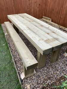 unbranded solid wood tabletop patio