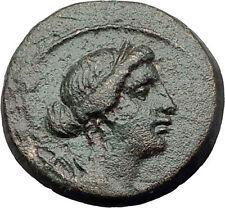 PHILADELPHIA in LYDIA 2-1cBC Authentic Ancient Greek Coin ARTEMIS APOLLO i63271