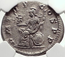 ELAGABALUS Authentic Ancient Rome Silver Antoninianus Roman Coin ROMA NGC i72778