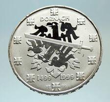 1999 SWITZERLAND Battle of Dornach Genuine Proof SILVER 20 Francs Coin i76783