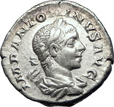 ELAGABALUS 220AD Authentic Ancient Silver Roman Coin  Zeus Jupiter  i73562