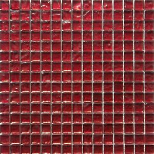 glass red mosaic tile sheets tiles for