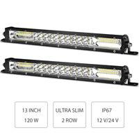 Light Bar Kit 24 Inch 120w 40 LED Work Flood Spot SUV