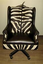 zebra print office chair linen covers for sale in chairs ebay genuine burchell hide leather study new
