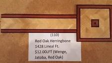 Hardwood Flooring Borders (Red Oak Herringbone)
