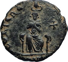 EUDOXIA Arcadius Wife 400AD Authentic Ancient Roman Coin HAND OF GOD i67320