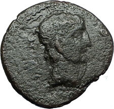 Greek King RHOEMETALKES of THRACE & AUGUSTUS Authentic Ancient Roman Coin i66707