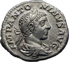 ELAGABALUS 219AD Authentic Genuine Ancient Silver Roman Coin Felicitas i70350