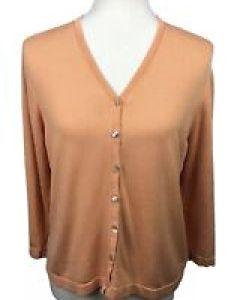 Valerie stevens women   size  silk blend orange ombre cardigan sweater  neck also clothing for ebay rh