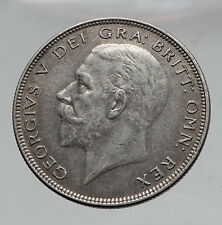 1936 Great Britain United Kingdom UK King GEORGE V Silver Half Crown Coin i63541