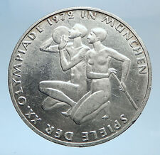 1972 Germany Munich Summer Olympics XX ATHLETES on 10 Mark Silver Coin i74034