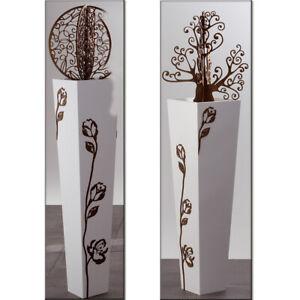 (0) vaso cubo millennium cm 39 colore antracite. Vasi Bianchi In Legno Per La Decorazione Della Casa Acquisti Online Su Ebay