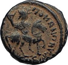 HONORIUS on Horse 393AD Authentic Ancient Original Genuine Roman Coin i67197