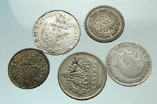 GROUP LOT of 5 Old SILVER Europe or Other WORLD Coins for your COLLECTION i75690