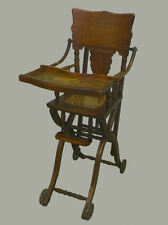 antique high chairs chair king houston distribution center victorian 1900 1950 ebay oak and stroller combination