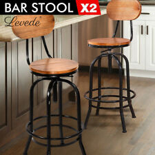 industrial kitchen stools aid range bar ebay 2x vintage rustic stool retro diningchair swivel barstool