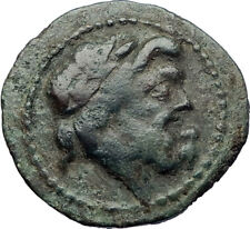 AKRAGAS in SICILY Genuine Authentic Ancient 125BC Greek Coin ZEUS & EAGLE i73835