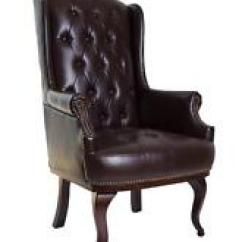 High Backed Chair Rocking For Baby Boy Faux Leather Back Chairs Ebay Chesterfield Queen Anne Style Armchair Wingback Fireside