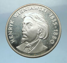 1979 POLAND Proof Silver Coin with POLISH Violinist Henryk Wieniawski i68531